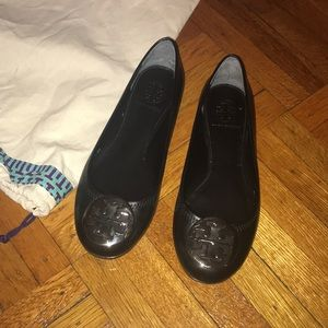 Tory Burch Reva Ballet Leather Flats Size 6 M !